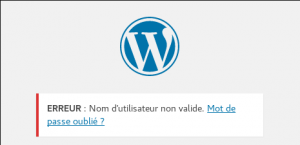 Wordpress - Erreur login
