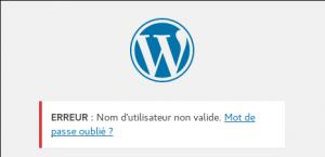 Wordpress - Erreur login